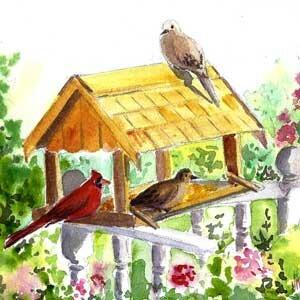 Как нарисовать кормушки для птиц