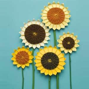 Как сделать цветы подсолнуха из бумаги
